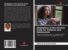 Capa do livro de Adaptation of the Anxiety Scale for Children and Adolescents