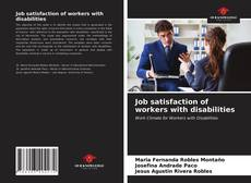 Bookcover of Job satisfaction of workers with disabilities