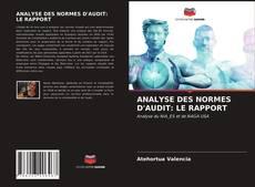 Couverture de ANALYSE DES NORMES D'AUDIT: LE RAPPORT