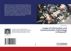 Portada del libro de 'usage of Information and Communication Technology In Research'