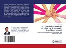 Copertina di A Critical Evaluation of People's Participation in Local Government