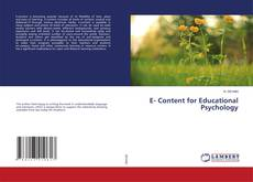 Bookcover of E- Content for Educational Psychology