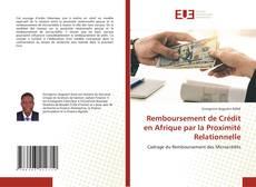 Обложка Remboursement de Crédit en Afrique par la Proximité Relationnelle