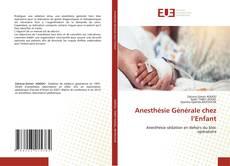 Buchcover von Anesthésie Générale chez l'Enfant