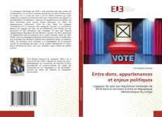 Portada del libro de Entre dons, appartenances et enjeux politiques