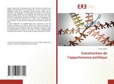 Bookcover of Construction de l'appartenance politique