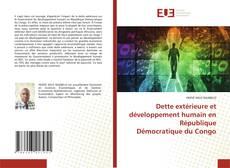 Dette extérieure et développement humain en République Démocratique du Congo kitap kapağı