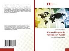Couverture de Cours d'Economie Politique et Rurale