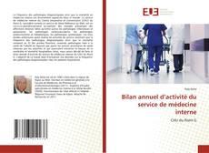 Bookcover of Bilan annuel d'activité du service de médecine interne