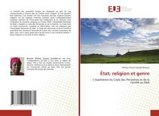 Bookcover of État, religion et genre