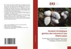 Bookcover of Analyse stratégique gestion des intrants d 'une filière coton