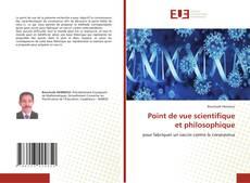Point de vue scientifique et philosophique kitap kapağı