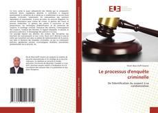 Bookcover of Le processus d'enquête criminelle