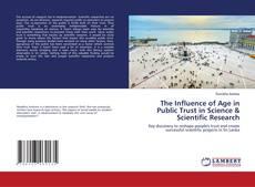 Buchcover von The Influence of Age in Public Trust in Science & Scientific Research