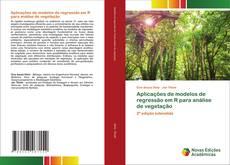 Capa do livro de Aplicações de modelos de regressão em R para análise de vegetação