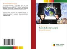 Capa do livro de Sociedade internacional