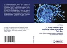 Bookcover of Critical Thinking in Undergraduate Teacher Training
