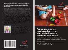 Bookcover of Prawa niemowląt przebywających w więzieniach wraz z matkami w Burundi