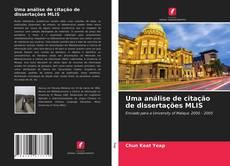 Capa do livro de Uma análise de citação de dissertações MLIS