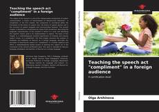 """Capa do livro de Teaching the speech act """"compliment"""" in a foreign audience"""