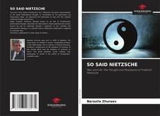 Capa do livro de SO SAID NIETZSCHE