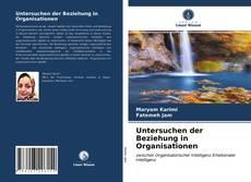 Capa do livro de Untersuchen der Beziehung in Organisationen
