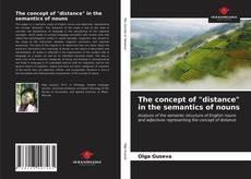 "Portada del libro de The concept of ""distance"" in the semantics of nouns"