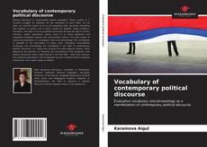 Vocabulary of contemporary political discourse kitap kapağı