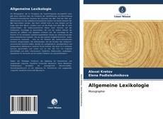 Copertina di Allgemeine Lexikologie