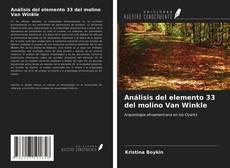 Capa do livro de Análisis del elemento 33 del molino Van Winkle
