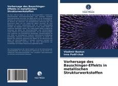 Portada del libro de Vorhersage des Bauschinger-Effekts in metallischen Strukturwerkstoffen