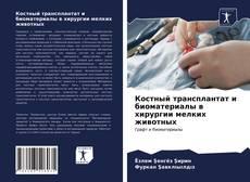 Bookcover of Костный трансплантат и биоматериалы в хирургии мелких животных
