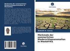 Buchcover von Merkmale der sommerlichen Niederschlagsanomalien in Westafrika