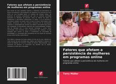 Capa do livro de Fatores que afetam a persistência de mulheres em programas online