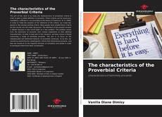 Capa do livro de The characteristics of the Proverbial Criteria