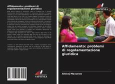 Bookcover of Affidamento: problemi di regolamentazione giuridica