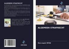 Buchcover von ALGEMEEN STRAFRECHT