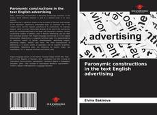 Bookcover of Paronymic constructions in the text English advertising