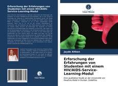 Borítókép a  Erforschung der Erfahrungen von Studenten mit einem HIV/AIDS-Service-Learning-Modul - hoz