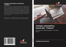 """Portada del libro de Campo semantico lessicale """"Colore"""""""
