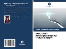 "Bookcover of EXPO-2017: Rechtsgrundlage für ""Future Energy"""