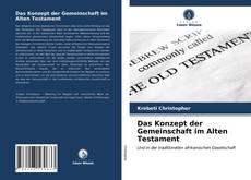 Copertina di Das Konzept der Gemeinschaft im Alten Testament