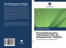 Capa do livro de Herausbildung eines individuellen Stils der pädagogischen Tätigkeit