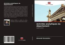 Bookcover of Activités analytiques du département