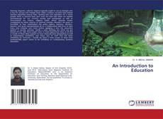 Portada del libro de An Introduction to Education