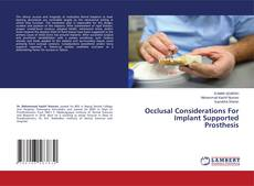 Capa do livro de Occlusal Considerations For Implant Supported Prosthesis