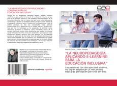 """Portada del libro de """"LA NEUROPEDAGOGÍA APLICANDO E-LEARNING PARA LA EDUCACIÓN INCLUSIVA"""""""