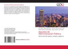 Apuntes de Administración Pública kitap kapağı