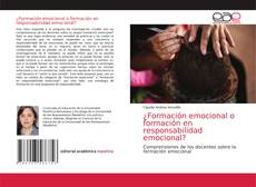 Обложка ¿Formación emocional o formación en responsabilidad emocional?