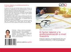 Copertina di El factor laboral y la profesionalización a nivel maestría